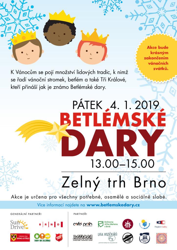 Betlemské Dary / Zelný trh Brno - Pátek 4. 1. 2019, 13.00-15.00